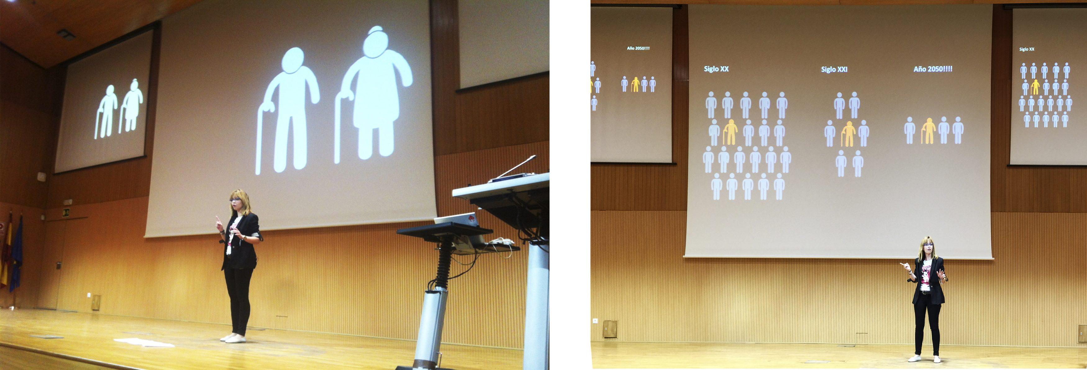 Investigación y difusión sobre color y arquitectura para personas mayores. Salón de Congresos UPV. Ponente: Anna Delcampo Carda
